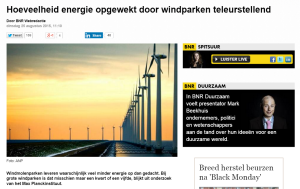 BNR over windparken opbrengst