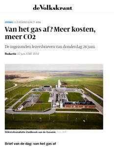 Volkskrant brief prof Smeulders over kolenstroom