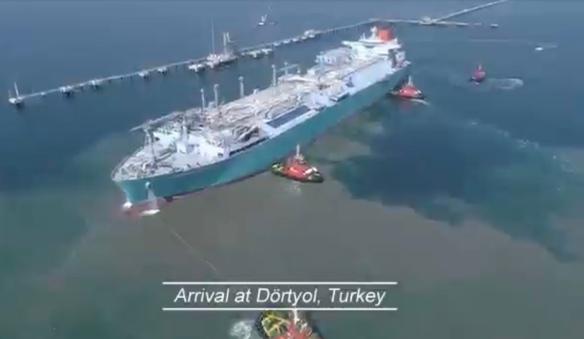 LNG tanker in Turkije